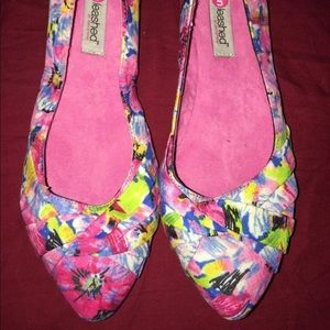 New unleashed Floral Ballet Pointy Flats Shoes 6